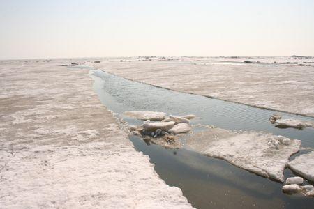 На Азовском море начался ледоход