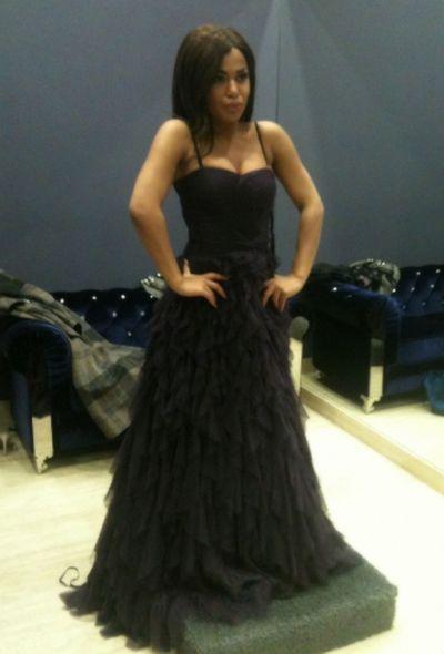 Гайтана примеряет платья на Евровидение