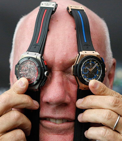 Презентацию официальных часов Евро-2012 в Киеве на НСК Олимпийский провел директор шведской компании-производителя Hublot Жан-Клод Бивер.