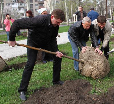 Константин Савинов, Александр Лукьянченко и Андрей Шишацкий разоблачают запорожскую рябину, чтобы посадить ее в донецкую землю.