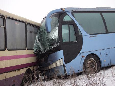 Столкновение автобусов в Мариуполе