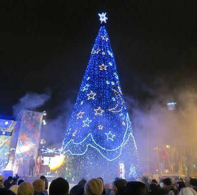 Главная елка Донецка