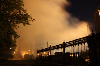 пожар в Донецке рядом с храмом