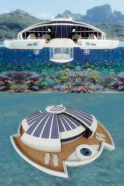 Плавающий курорт на батарейках