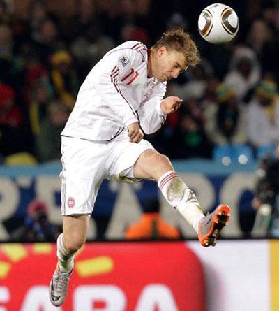 Нападающий сборной Дании Никлас Бендтнер