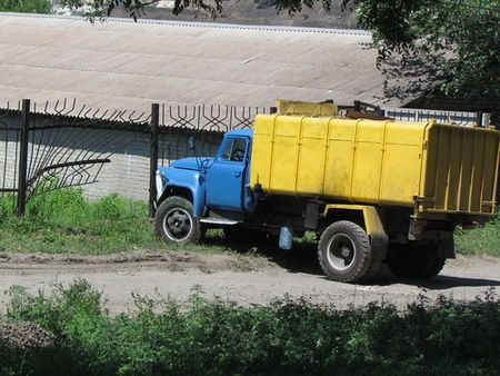 Авария с мусоровозом в Краматорске