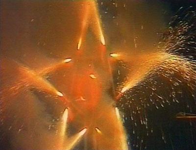 Эту пиротехническую звезду зажгли на бывшем Локомотиве под песни группы Кино.