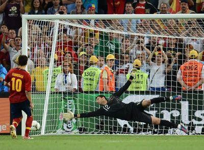 пенальни Португалия - Испания в Донецке. Полуфинал Евро-2012