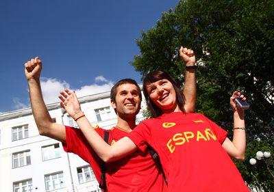 фанат Евро-2012 в Донецке