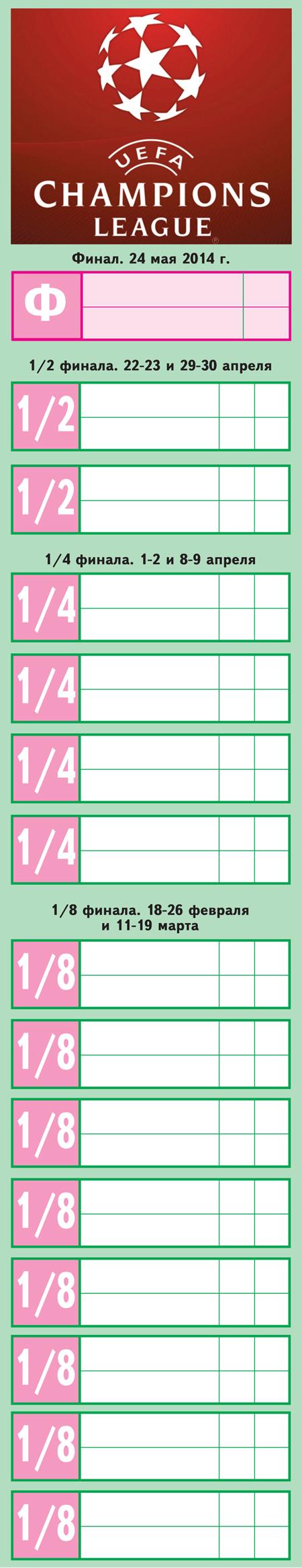 календарь лиги чемпионов