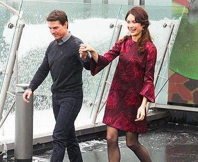 Круз и Куриленко на премьере Обливиона