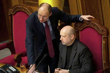 Арсений Яценюк и его сопартиец по