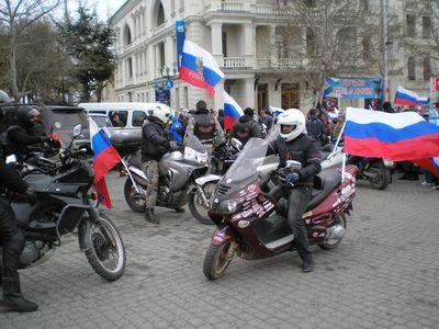 Севастополь заполонили российские флаги  и предчувствие перемен.