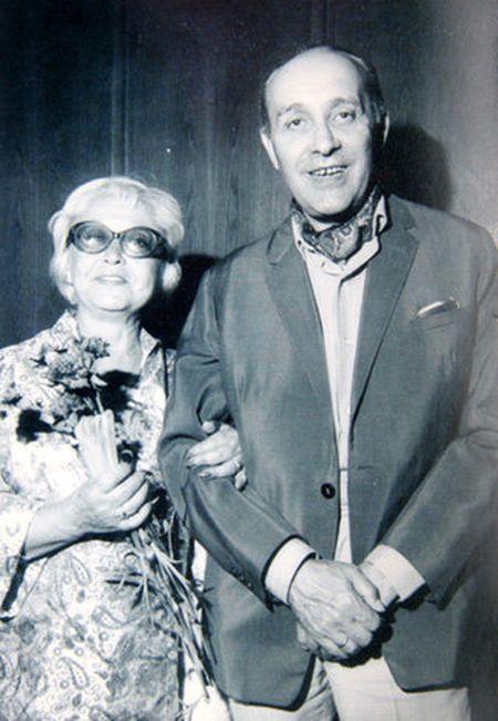 Янина Жеймо с третьим мужем режиссёром Леоном Жанно.
