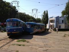 В Одессе столкнулись два трамвая