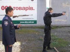 В Донецке милиционеры соревновались в меткости (ФОТО)