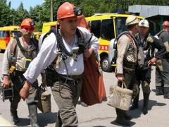 В Луганской области горит шахта. Ведется эвакуация горняков