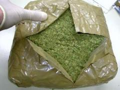 На границе с Россией тормознули марихуану