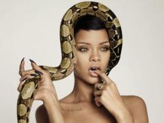 Знаменитая певица Рианна обнажилась - и превратилась в змею (ФОТО)