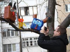 """В Донецк """"прилетели"""" бензиновые совы (ФОТО)"""