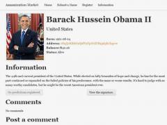 """На сайте """"Рынок убийств"""" собирают деньги, чтобы """"заказать"""" Обаму"""