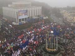 Евромайдан: протестные страсти в центре Киева (ВИДЕО)