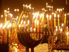 С заходом солнца у иудеев начался праздник Ханука