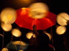Красный зонт вместо полосатого жезла: как доброволец регулировал движение (ВИДЕО)