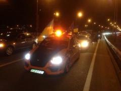 ГАИ не пропустила колонну с митингующими в Межигорье