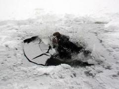 В Макеевке под лёд провалились две девочки