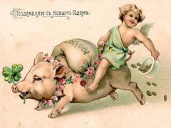 Как встречать старый Новый год:  в обнимку со свиньёй и верхом на мухоморе (ФОТО)