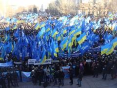 В 38 городах Украины в поддержку президента выйдут 300 тысяч человек