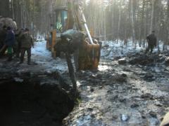 Добровольцы вытащили из болота военный самолёт (ВИДЕО)