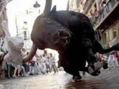 Убегая от разъярённого быка, мужчина решил сфотографироваться (ФОТО + ВИДЕО)