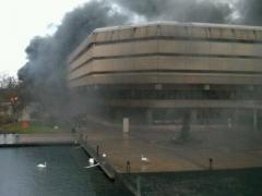 Грандиозное ЧП: пожар охватил государственный архив (ВИДЕО)