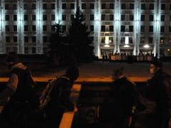 В осаде: первый штурм Полтавской ОГА отбили правоохранители (ВИДЕО)