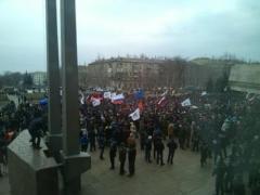 Сессия Донецкого облсовета проходит в осадном положении: из здания никого не выпускают