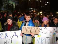"""""""Путин, нам не нужна твоя защита!"""" Донецк протестовал против сепаратизма (ФОТО + ВИДЕО)"""
