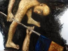 Кровь, слёзы и грязь: художники вдохновились Майданом и устроили выставку (ВИДЕО)