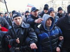 Пророссийские митингующие парализовали Донецк и разогнали митинг (ФОТО + ВИДЕО)