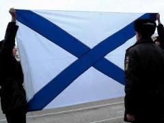 На церемонии поднятия флага РФ севастопольские курсанты спели гимн Украины (ВИДЕО)