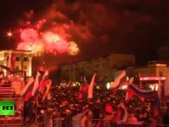 Крым и Россию объединил огненный дождь (ВИДЕО)