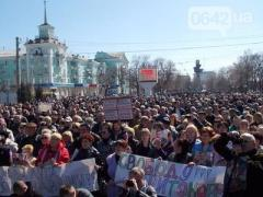 Два луганских шествия: страсти вокруг Ляшко и буддистов (2 ВИДЕО)