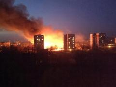 В Донецке случился крупнейший пожар: пламя было видно за несколько километров (ВИДЕО)