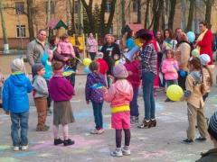 Донецкие дети поддержали Украину (ФОТО + ВИДЕО)