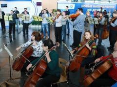 В донецком аэропорту имени Прокофьева исполнили гимн Евросоюза (ВИДЕО)