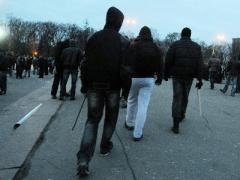 В Харькове участников митинга жестоко избили (ВИДЕО)