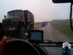 Колонна военной техники впечатлила сторонников пророссийских протестов (ВИДЕО)
