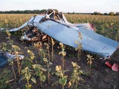 В Запорожской области упал самолёт