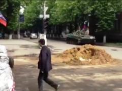 Под рёв сирены и звон колоколов в Славянске погибают люди (ВИДЕО)